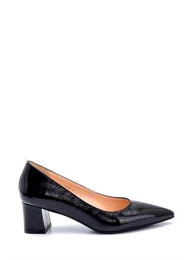Derimod Kadın Deri Kalın Topuklu Ayakkabı Siyah